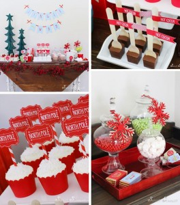 """Jingle All the Way"" Christmas Hot Cocoa Bar with So Many Really Cute Ideas via Kara's Party Ideas KarasPartyIdeas.com #HotCocoaBar #HotChocolate #ChristmasParty #NorthPoleParty (1)"