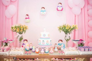 Matryoshka Nesting Doll Party Full of Really Cute Ideas via Kara's Party Ideas | KarasPartyIdeas.com #MatryoshkaDollParty #GirlParty #1stBirthdayParty #PartyIdeas #Supplies (14)