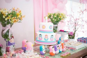 Matryoshka Nesting Doll Party Full of Really Cute Ideas via Kara's Party Ideas | KarasPartyIdeas.com #MatryoshkaDollParty #GirlParty #1stBirthdayParty #PartyIdeas #Supplies (11)