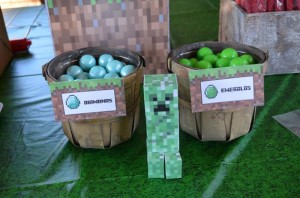 Minecraft Party with Full of Awesome Ideas via Kara' s Party Ideas KarasPartyIdeas.com #TweenParty #GamingParty #PartyIdeas #Supplies (16)