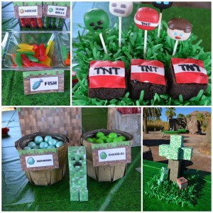 Minecraft Party with Full of Awesome Ideas via Kara' s Party Ideas KarasPartyIdeas.com #TweenParty #GamingParty #PartyIdeas #Supplies (1)