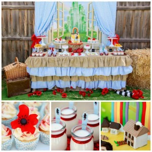 Somewhere Over the Rainbow Party with So Many Cute Ideas via Kara's Party Ideas KarasPartyIdeas.com #WizardOfOz #RedSlippers #WizardOfOzParty #PartyIdeas #Supplies (1)