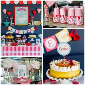Retro Kitchen Bridal Shower with Lots of Really Cute Ideas via Kara's Party Ideas | KarasPartyIdeas.com #RetroBridalShower #RetroParty #PartyIdeas #Supplies (1)