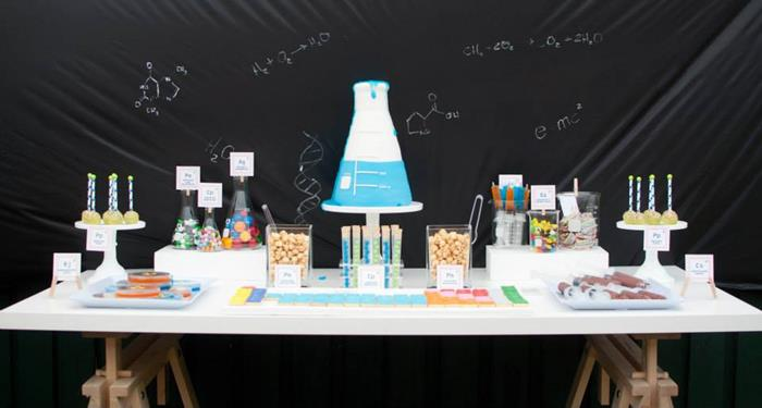 Kara S Party Ideas Science Themed Birthday Party Ideas