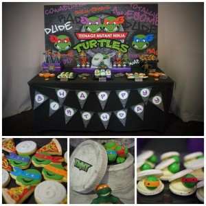 TMNT Party with Such Awesome Ideas via Kara's Party Ideas | KarasPartyIdeas.com #TeenageMutantNinjaTurtles #PartyIdeas #Supplies (1)