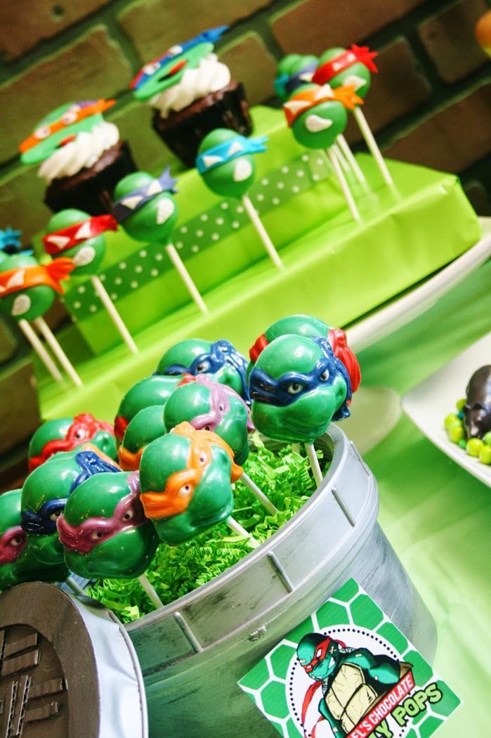 Kara S Party Ideas Teenage Mutant Ninja Turtles Party With