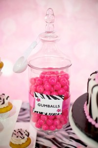 Hello Kitty Pink Zebra themed birthday party with Lots of Really Cute Ideas via Kara's Party Ideas Kara Allen KarasPartyIdeas.com #HelloKitty #PinkZebraParty #PartyIdeas #Supplies (14)
