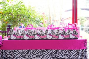 Hello Kitty Pink Zebra themed birthday party with Lots of Really Cute Ideas via Kara's Party Ideas Kara Allen KarasPartyIdeas.com #HelloKitty #PinkZebraParty #PartyIdeas #Supplies (9)
