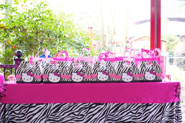 Karas Party Ideas Hello Kitty Pink Zebra themed birthday party