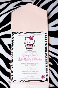 Hello Kitty Pink Zebra themed birthday party with Lots of Really Cute Ideas via Kara's Party Ideas Kara Allen KarasPartyIdeas.com #HelloKitty #PinkZebraParty #PartyIdeas #Supplies (24)