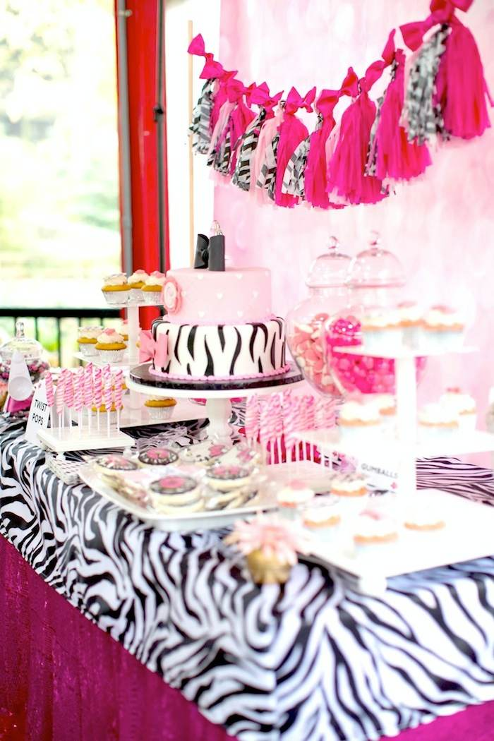 Hello Kitty Pink Zebra themed birthday party via Kara's Party Ideas ...