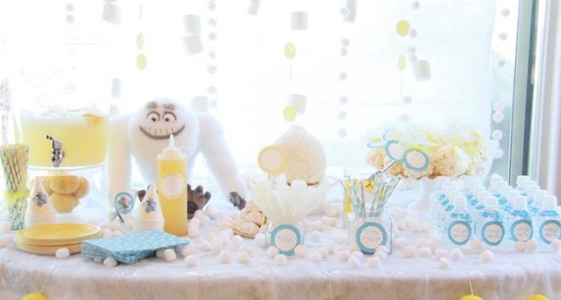 Abominable Snowman Party with Such Cute Ideas via Kara's Party Ideas | KarasPartyIdeas.com #AbominableSowman #Yeti #SnowballCake #SnowConeParty #PartyIdeas #Supplies (26)