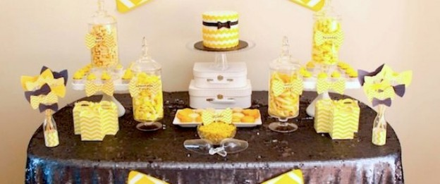Bow Tie Themed 1st Birthday Party with tons of cute ideas! Via Kara's Party Ideas KarasPartyIdeas.com #babyshower #babyshowerideas #bowtiebabyshower #1stbirthdayparty