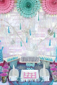 Disney's Frozen themed birthday party full of ideas! Via KarasPartyIdeas.com #frozen #frozenparty (14)