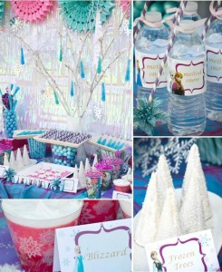 Disney's Frozen themed birthday party full of ideas! Via KarasPartyIdeas.com #frozen #frozenparty (2)