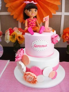 Dora the Explorer modern girl birthday party Full of Really Cute Ideas via Kara's Party Ideas Kara Allen KarasPartyIdeas.com #DoraParty #DoraThe Explorer #ModernGirl #PartyIdeas #Supplies (5)