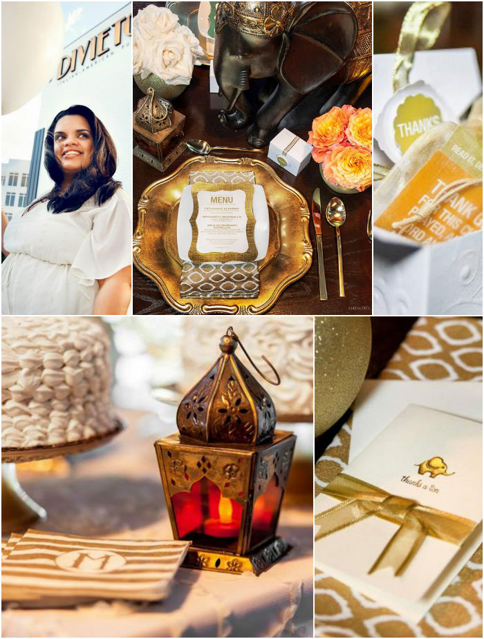 moroccan elephant themed baby shower with such fabulous ideas via kara
