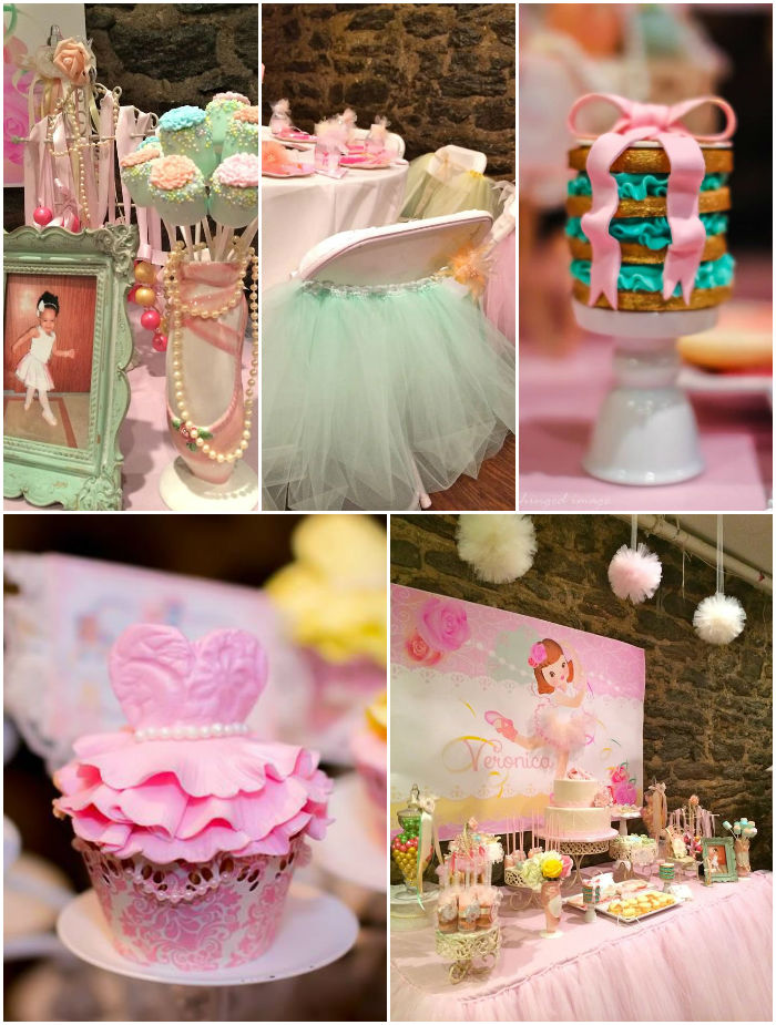 Kara 39 s party ideas sweet ballerina themed 1st birthday for Ballerina party decoration ideas