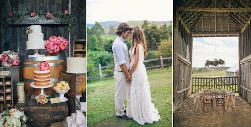 Rustic Country Barn Wedding in Australia via Kara's Party Ideas KarasPartyIdeas.com Kara Allen
