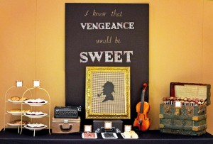 Sherlock Holmes themed party with Such Great Ideas via Kara's Party Ideas KarasPartyIdeas.com #DetectiveParty #MurderMystery #PartyIdeas #Supplies (19)