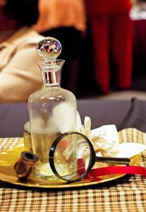 Sherlock Holmes themed party with Such Great Ideas via Kara's Party Ideas KarasPartyIdeas.com #DetectiveParty #MurderMystery #PartyIdeas #Supplies (4)