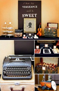Sherlock Holmes themed party with Such Great Ideas via Kara's Party Ideas KarasPartyIdeas.com #DetectiveParty #MurderMystery #PartyIdeas #Supplies (2)