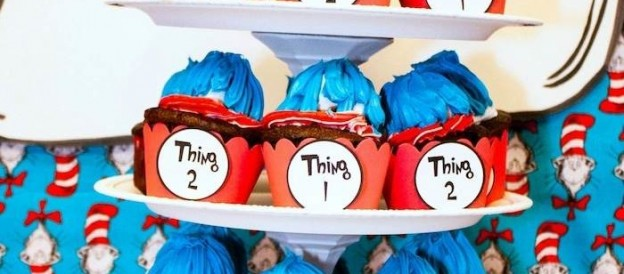 thing 1 thing 2 twin themed dr seuss birthday party via Kara's Party Ideas KarasPartyIdeas.com
