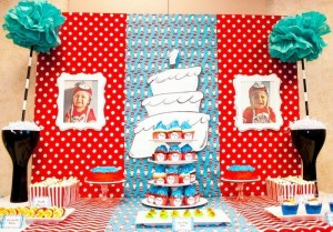 Thing 1 and Thing 2 twin themed birthday party via Kara's Party Ideas KarasPartyIdeas.com Dr Seuss Party Ideas #DrSeuss #PartyIdeas #Supplies (1)