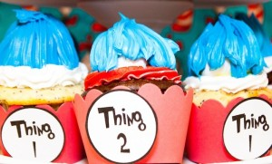 Thing 1 and Thing 2 twin themed birthday party via Kara's Party Ideas KarasPartyIdeas.com Dr Seuss Party Ideas #DrSeuss #PartyIdeas #Supplies (11)