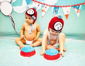 Thing 1 and Thing 2 twin themed birthday party via Kara's Party Ideas KarasPartyIdeas.com Dr Seuss Party Ideas #DrSeuss #PartyIdeas #Supplies (6)
