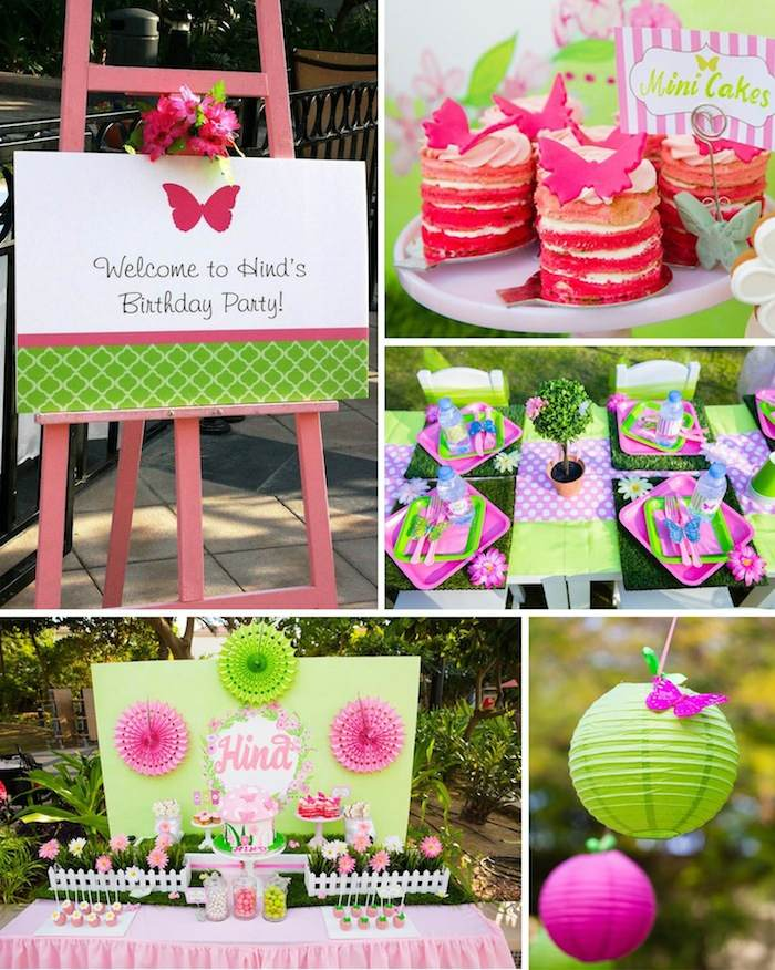 Kara 39 S Party Ideas Butterfly Garden Themed Birthday Party