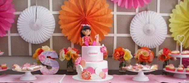 Dora the Explorer modern girl birthday party Full of Really Cute Ideas via Kara's Party Ideas Kara Allen KarasPartyIdeas.com #DoraParty #DoraThe Explorer #ModernGirl #PartyIdeas #Supplies (1)