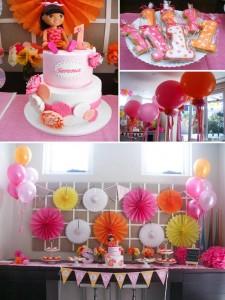 Dora the Explorer modern girl birthday party Full of Really Cute Ideas via Kara's Party Ideas Kara Allen KarasPartyIdeas.com #DoraParty #DoraThe Explorer #ModernGirl #PartyIdeas #Supplies (11)