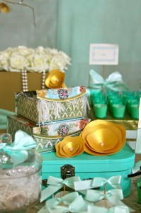 Gold and Mint Baptism with So Many Beautiful Ideas via Kara's Party Ideas | KarasPartyIdeas.com #GoldAndMintParty #BaptismDessertTable #BaptismIdeas #PartyIdeas #Supplies (22)
