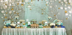 Gold and Mint Baptism with So Many Beautiful Ideas via Kara's Party Ideas | KarasPartyIdeas.com #GoldAndMintParty #BaptismDessertTable #BaptismIdeas #PartyIdeas #Supplies (14)