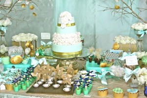 Gold and Mint Baptism with So Many Beautiful Ideas via Kara's Party Ideas | KarasPartyIdeas.com #GoldAndMintParty #BaptismDessertTable #BaptismIdeas #PartyIdeas #Supplies (7)