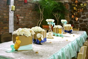 Gold and Mint Baptism with So Many Beautiful Ideas via Kara's Party Ideas | KarasPartyIdeas.com #GoldAndMintParty #BaptismDessertTable #BaptismIdeas #PartyIdeas #Supplies (6)