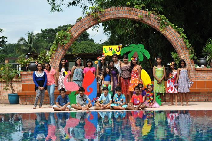 Kara S Party Ideas Hawaiian Themed 13th Birthday Pool