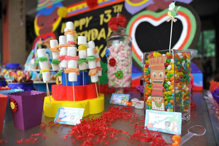 Kara 39 s party ideas hawaiian themed 13th birthday pool for 13th birthday decoration ideas