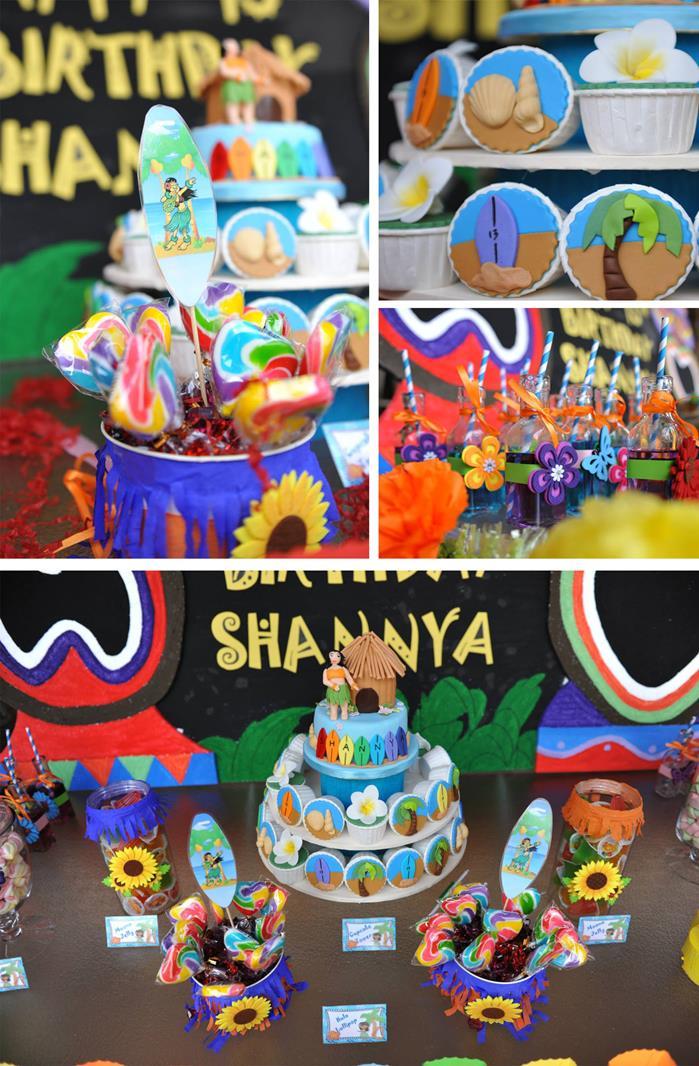 Kara 39 s party ideas hawaiian themed 13th birthday pool for 13th birthday party decoration ideas