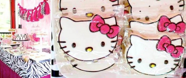 Hello Kitty Pink Zebra themed birthday party with Lots of Really Cute Ideas via Kara's Party Ideas Kara Allen KarasPartyIdeas.com #HelloKitty #PinkZebraParty #PartyIdeas #Supplies (1)