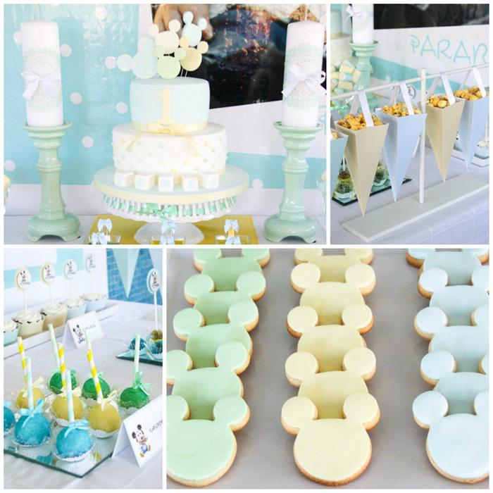 Kara 39 s party ideas baby mickey mouse party with lots of for Baby mickey decoration ideas