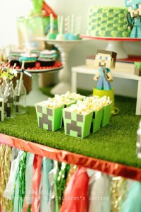 Minecraft Party with So Many Awesome Ideas via Kara's Party Ideas Kara Allen KarasPartyIdeas.com #MinecraftParty #BoyParty #PartyIdeas #Supplies (5)