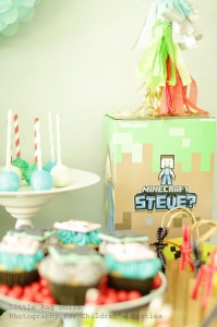 Minecraft Party with So Many Awesome Ideas via Kara's Party Ideas Kara Allen KarasPartyIdeas.com #MinecraftParty #BoyParty #PartyIdeas #Supplies (15)