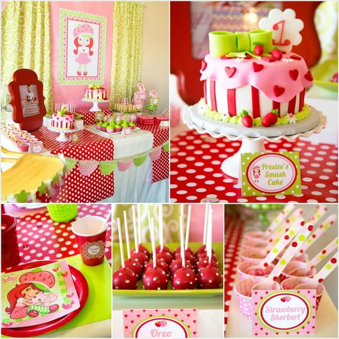 Kara S Party Ideas Strawberry Shortcake Themed First