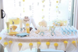 Abominable Snowman Party with Such Cute Ideas via Kara's Party Ideas | KarasPartyIdeas.com #AbominableSowman #Yeti #SnowballCake #SnowConeParty #PartyIdeas #Supplies (16)