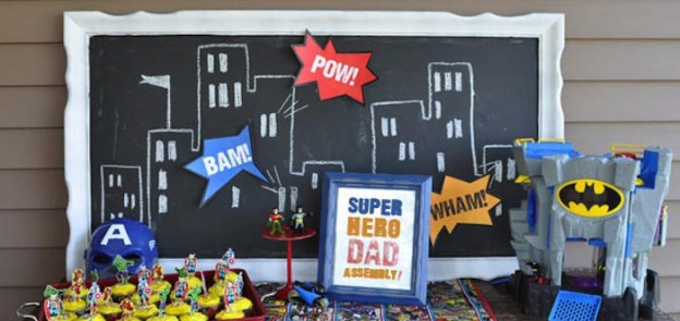 Superhero Birthday Party for Dad Full of Fun Ideas via Kara's Party Ideas | KarasPartyIdeas.com #SuperheroParty #PartyIdeas #Supplies (1)