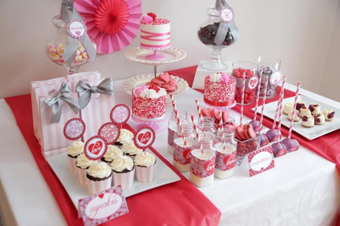 Valentineu0027s Day Sweet Table With Lots Of REALLY CUTE Ideas Via Karau0027s Party  Ideas Kara Allen