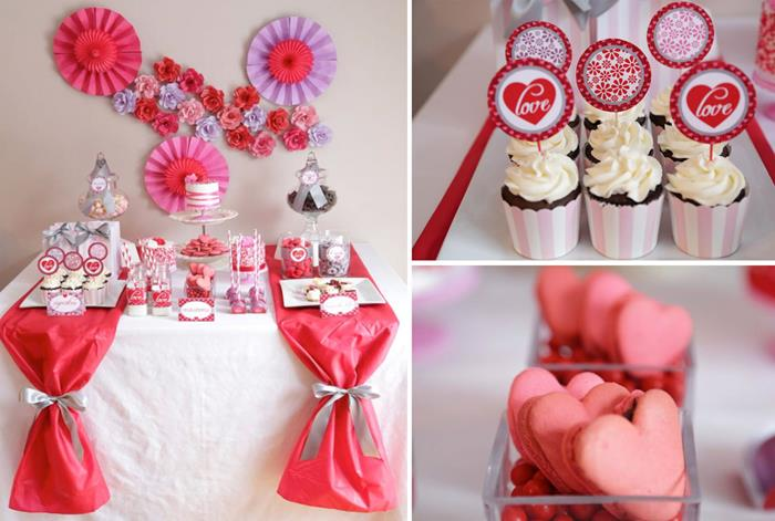 kara 39 s party ideas valentine 39 s day sweet table with such cute ideas via kara 39 s party ideas kara. Black Bedroom Furniture Sets. Home Design Ideas