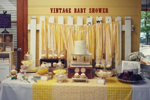 Yellow Vintage Baby Shower with So Many Darling Ideas via Kara's Party Ideas | KarasPartyIdeas.com #GenderNeutralBabyShower #VintageYellowShower #PartyIdeas #Supplies (34)